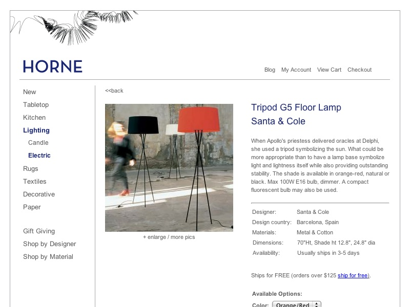 Tripod G5 Floor Lamp