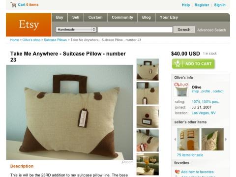 Take Me Anywhere Suitcase Pillow
