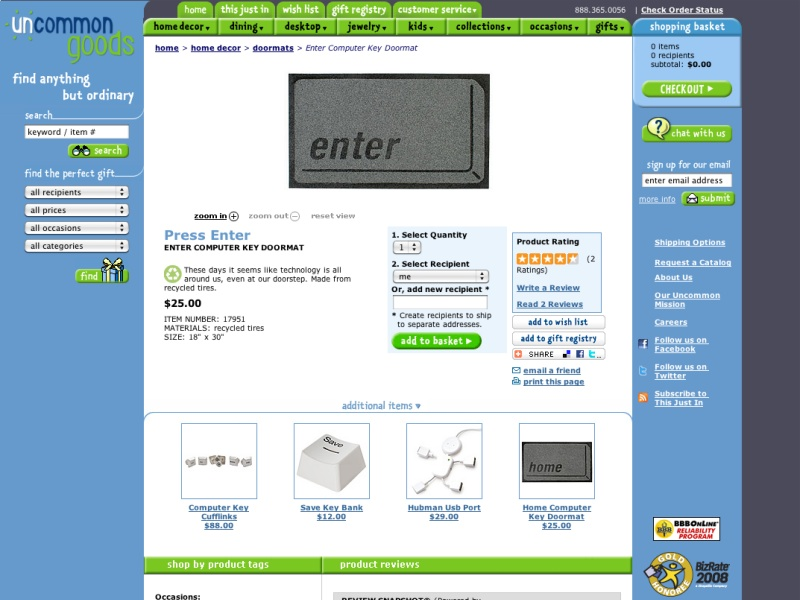 Enter Computer Key Doormat