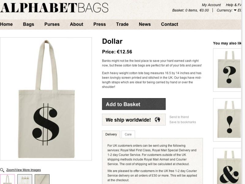 Alphabet Bags – Dollar
