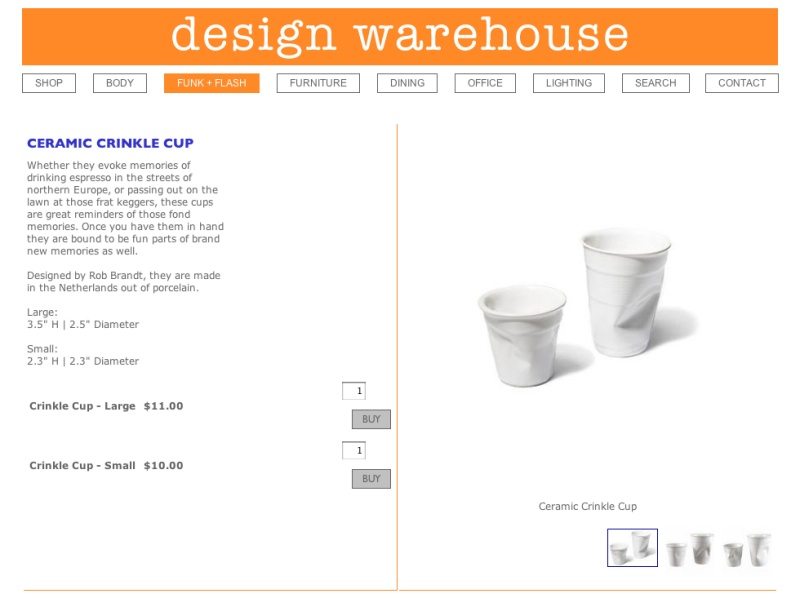 Ceramic Crinkle Cup