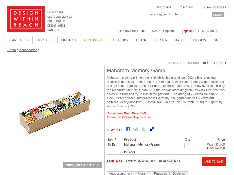 Maharam Memory Game