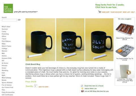 Chalk Board Mug