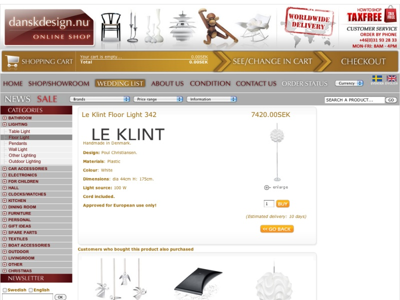 Le Klint Floor Light 342