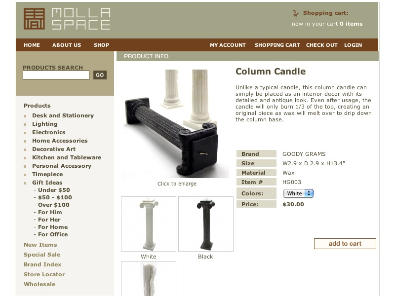 Column Candle