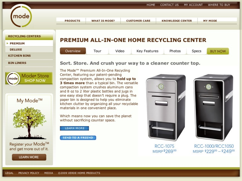 All-In-One Home Recycling Center